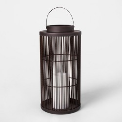 Vertical Weave LED Battery Operated Outdoor Lantern - Threshold™