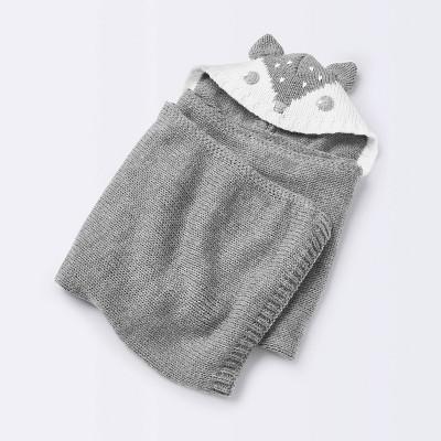 Baby Blanket Fox - Cloud Island™ Heather Gray