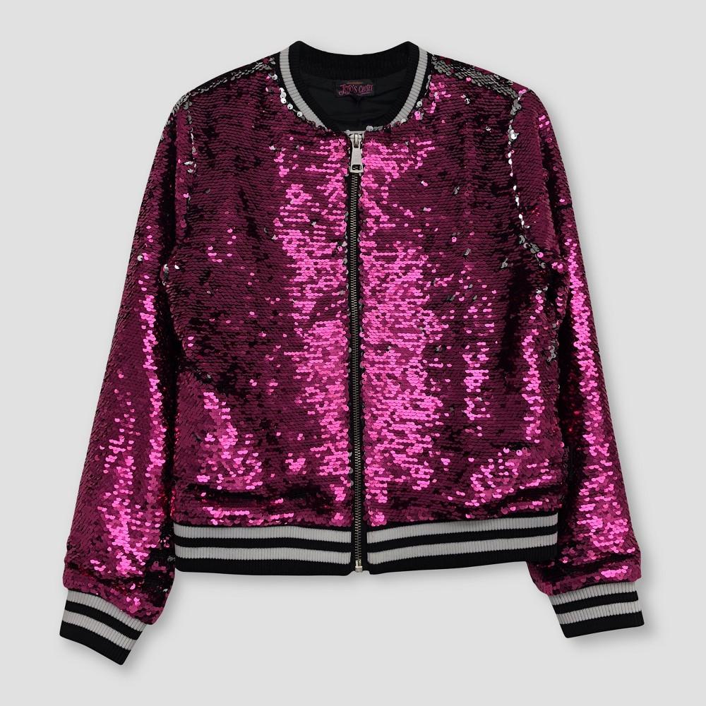 Girls' Nickelodeon JoJo's Closet Flip Sequin Bomber Jacket - Pink XS