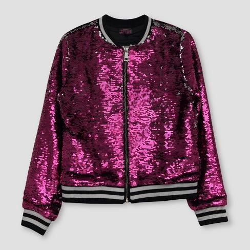 7c3818c7c60 Girls' Nickelodeon JoJo's Closet Flip Sequin Bomber Jacket - Pink