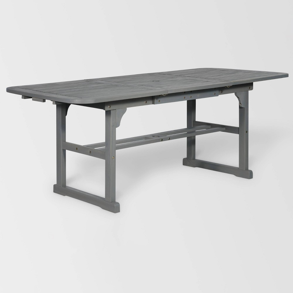 Extendable Outdoor Dining Table Gray - Saracina Home
