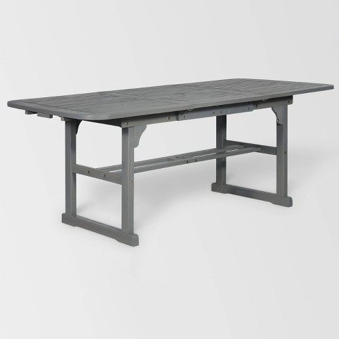 Extendable Outdoor Dining Table Gray