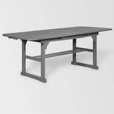Superbe Extendable Outdoor Dining Table Gray   Saracina Home : Target