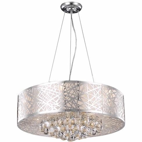 """Elegant Lighting 2078D24 Prism 24"""" Wide 9 Light Drum Style Chandelier - image 1 of 1"""