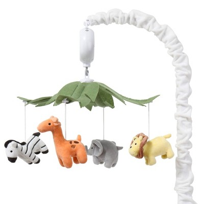 The Peanut Shell Safari Animals Musical Mobile