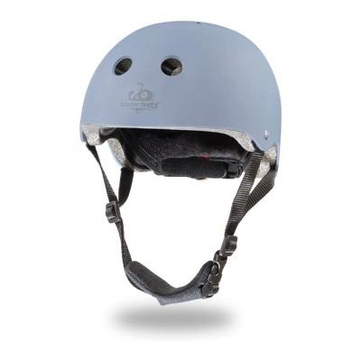 Kinderfeets Slate Blue Adjustable Toddler & Kids Bike Helmet Bundle with Kinderfeets Tiny Tot PLUS 2-in-1 Balance Bike Tricycle, Slate Blue