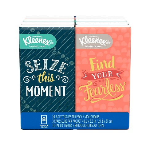 Kleenex On-The-Go Facial Tissue - 8pk/10ct - image 1 of 4