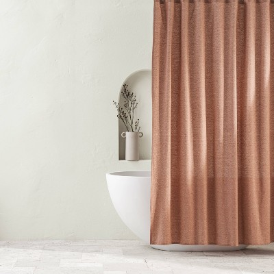 Chambray Shower Curtain Clay - Casaluna™
