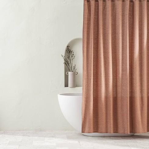 Chambray Shower Curtain Clay - Casaluna™ - image 1 of 2