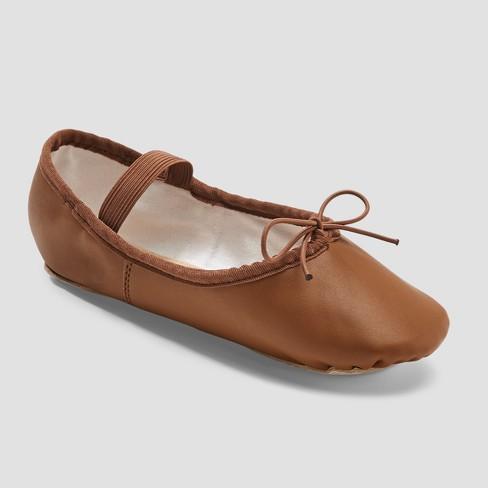 00c376521cb5 Freestyle By Danskin Girls  Ballet Shoe - Brown   Target