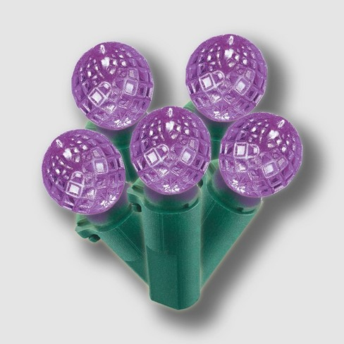 Philips 60ct Christmas LED Faceted Sphere String Lights Purple - image 1 of 3