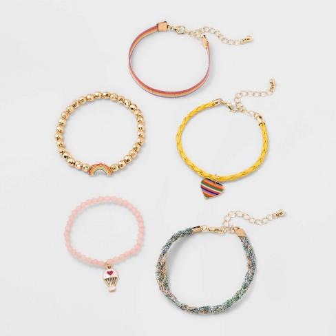 Girls' 5pk Mixed Bracelet Set - Cat & Jack™ - image 1 of 1