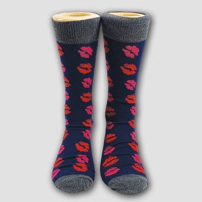 Men's Printed Kisses Casual Socks - 6-12