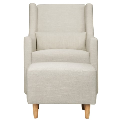 finest selection 550f3 8a88f Babyletto Toco Swivel Glider and Ottoman - White Linen