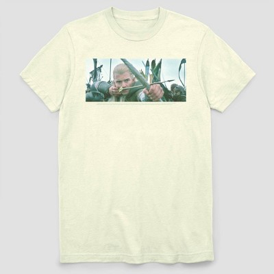 Men's FOX LOTR Elf Aim Short Sleeve Graphic Crewneck T-Shirt - White