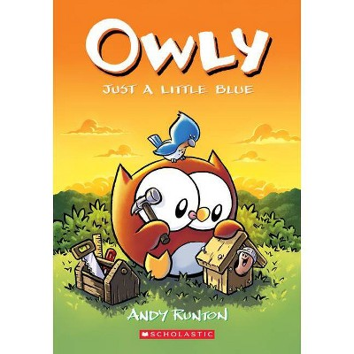 Just a Little Blue (Owly #2), Volume 2 - by Andy Runton (Paperback)