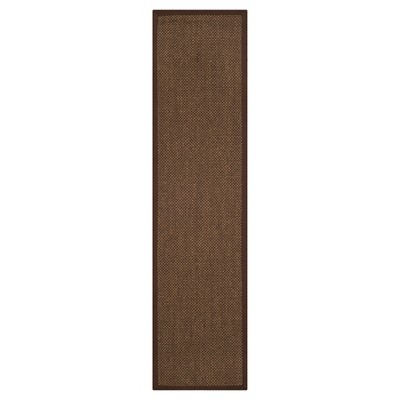 2'6 x8' Solid Woven Runners Brown - Safavieh