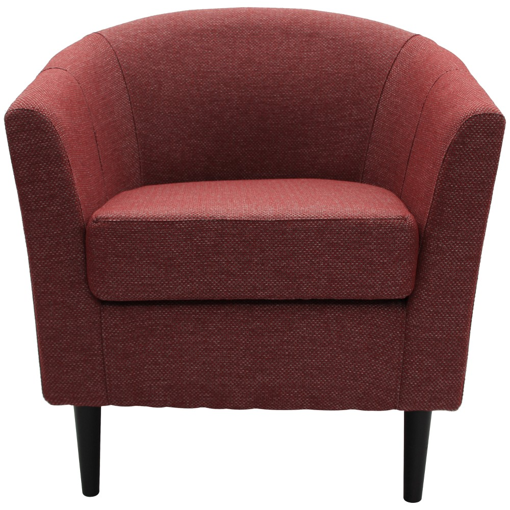 Windsor Stain Resistant Club Chair Red - Fox Hill Trading
