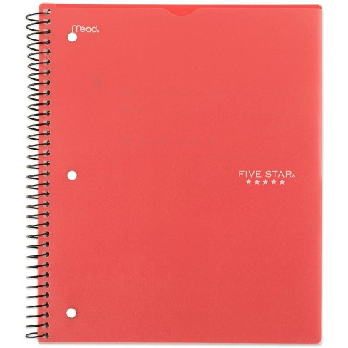 Spiral Notebook 1 Subject Wide Ruled Customizable Coral - Five Star - image 1 of 4