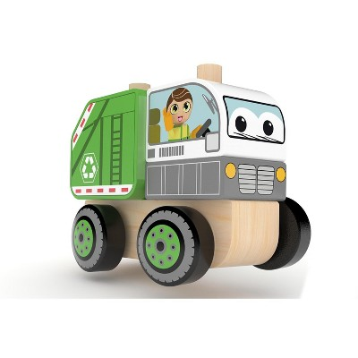 J'adore Garbage Truck Wooden Stacking Toy