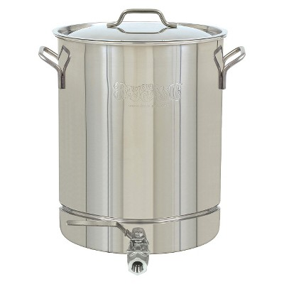 Bayou® Classic Stainless Stockpot with Spigot - 8 Gal.