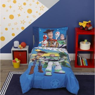 """Toy Story """"Toys In Action"""" 4pc Toddler Bed Set"""