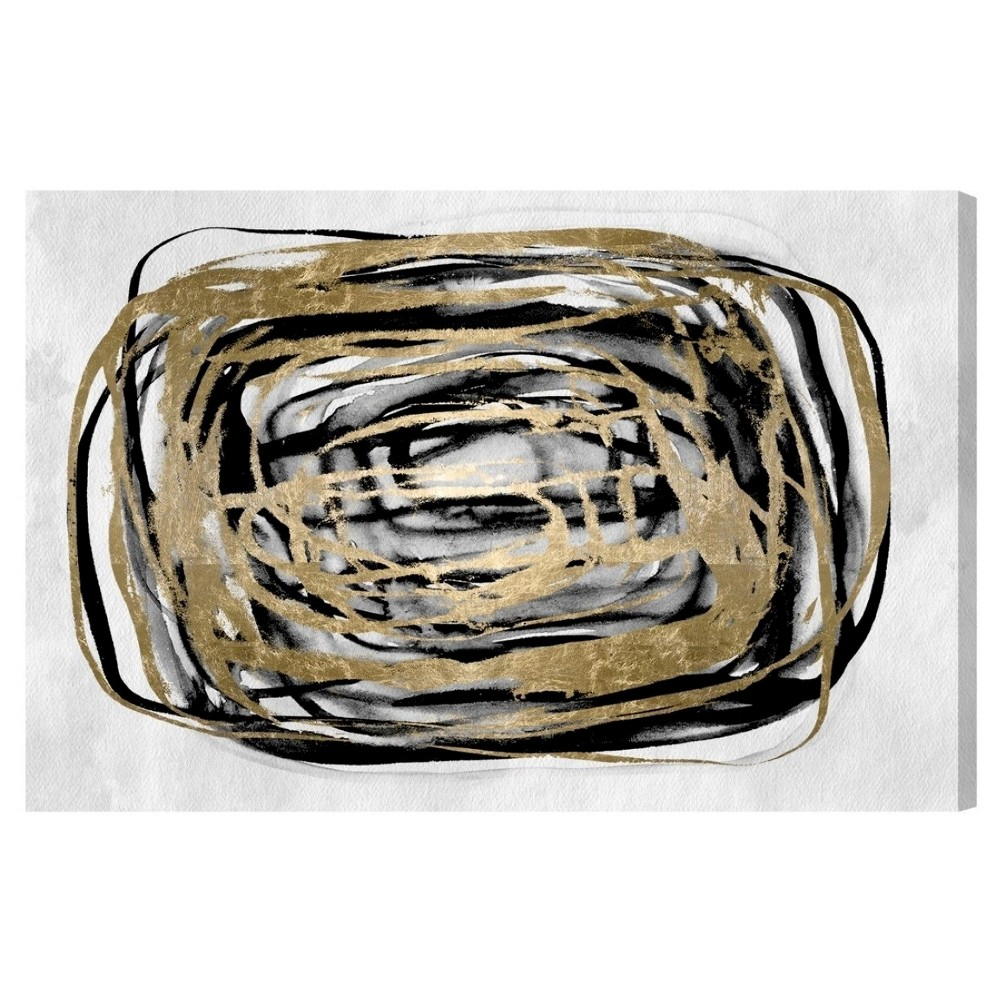 "Image of ""Oliver Gal Unframed Wall """"Take Me Higher"""" Canvas Art (36x24), Gold Black"""