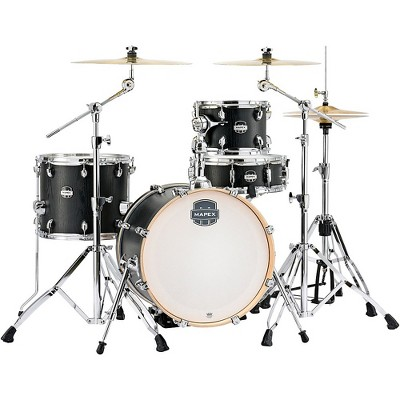"""Mapex Mapex Mars Series 4-Piece Bop Shell Pack with 18"""" Bass Drum Nightwood Chrome"""
