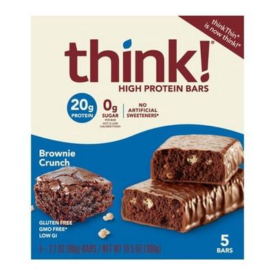 think! High Protein Brownie Crunch Bars - 2.1oz/5ct