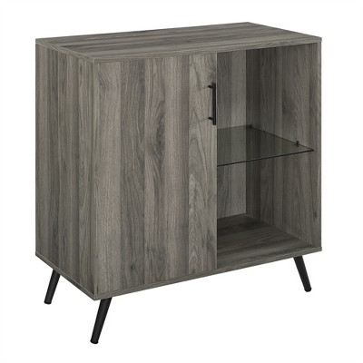 "Single Door Mid-Century Modern Wood TV Stand for TVs up to 32"" - Saracina Home"