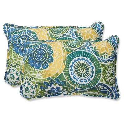Pillow Perfect 2-Piece Outdoor Lumbar Pillows - Omnia