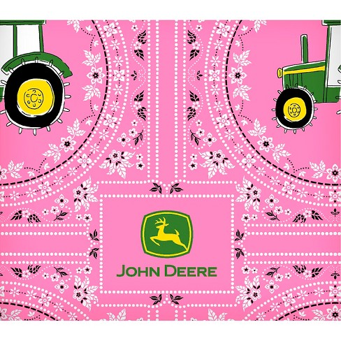 "John Deere Juvenile Bandana Tractor, Pink, 100% Cotton, 43/44"" Width, Fabric by the Yard - image 1 of 1"