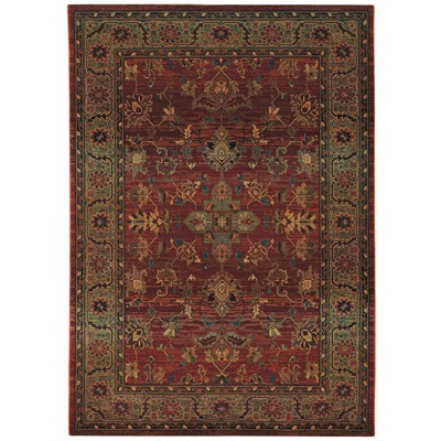 """Ansley Area Rug - Red (7'10""""x11')"""