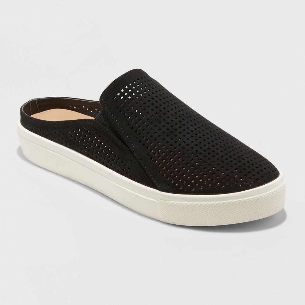 Women's Meena Slip On Sneakers - Universal Thread Black 9.5