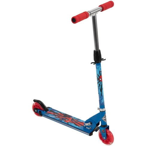 Huffy Spider-Man 2 Wheel Scooter with LED Wheels and Deck - Blue - image 1 of 4