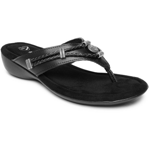 Minnetonka Women's Suede Silverthorne 360 Thong Sandals - image 1 of 4