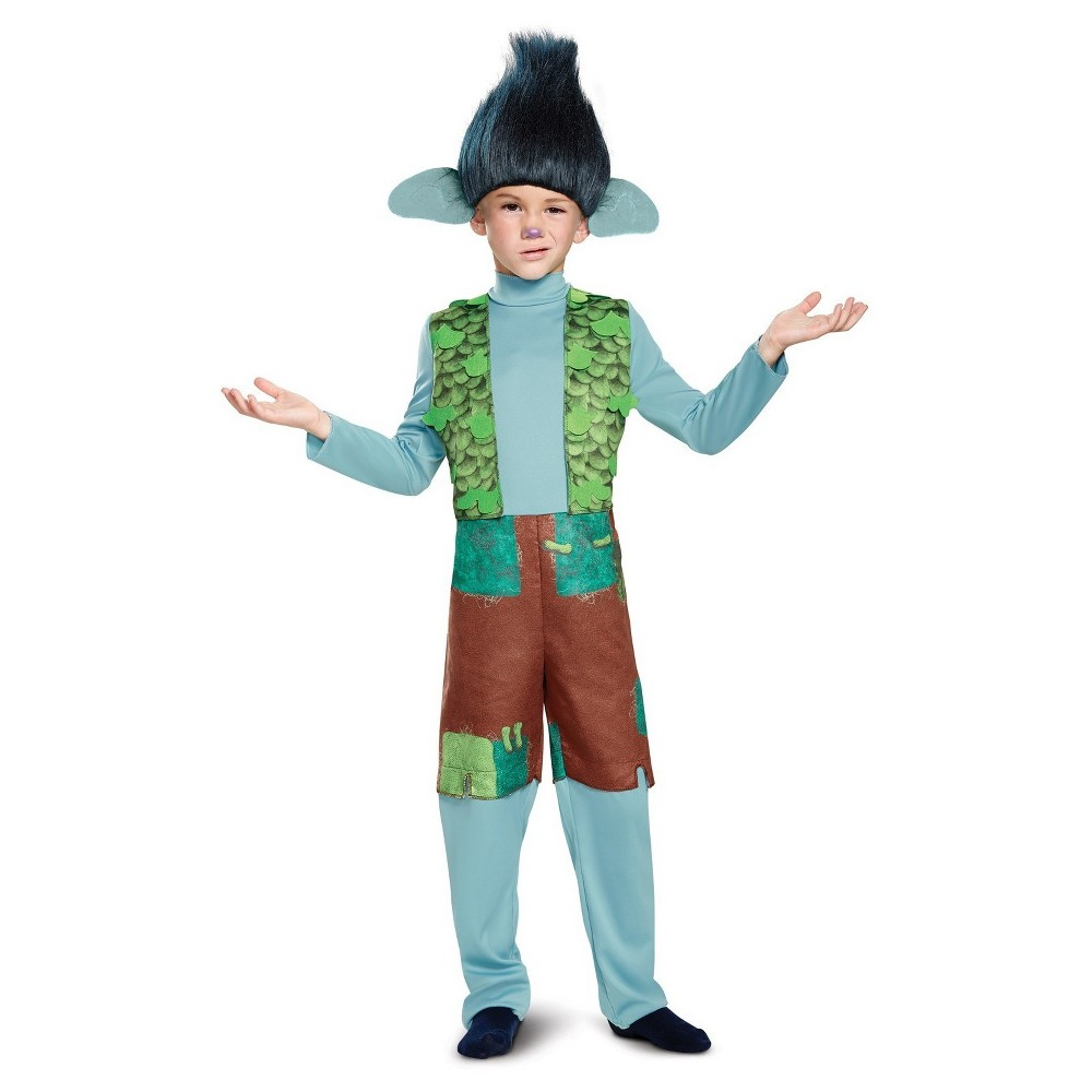Kids' Trolls Branch Deluxe Costume with Wig - Large, Kids Unisex, Multicolored