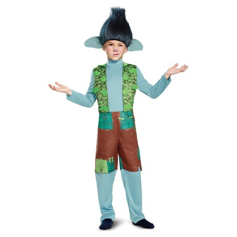 Kids' Trolls-  Branch Deluxe Costume with Wig - image 1 of 1