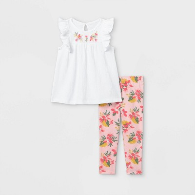 Toddler Girls' 2pc Tropical Floral Tank Top and Bottom Set - Just One You® made by carter's Pink