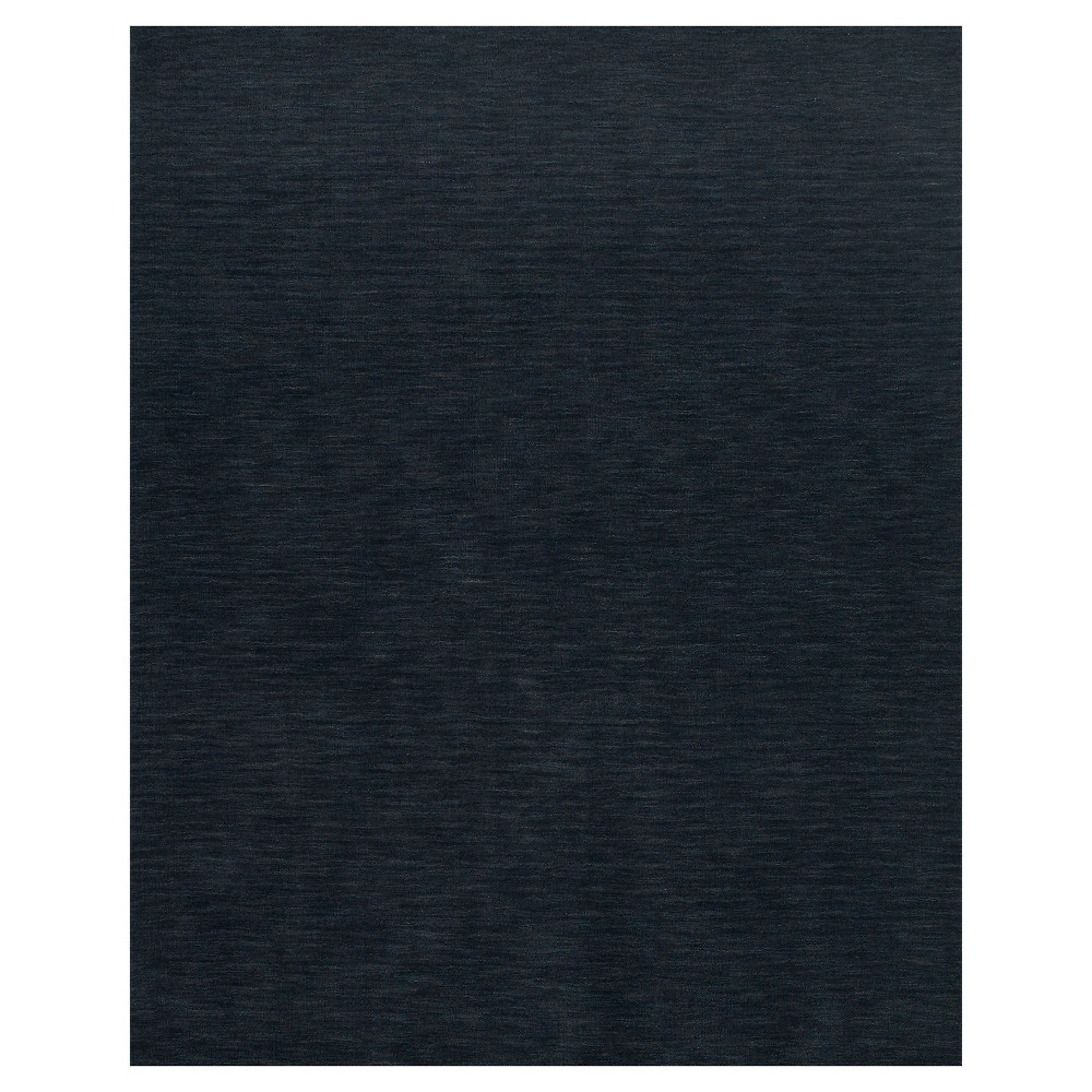 Solid Woven Area Rugs Black