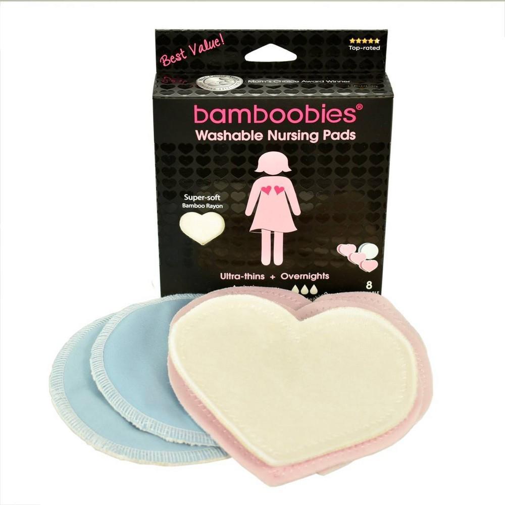 Image of Bamboobies Regular and Overnight washable Nursing Pad - 8ct