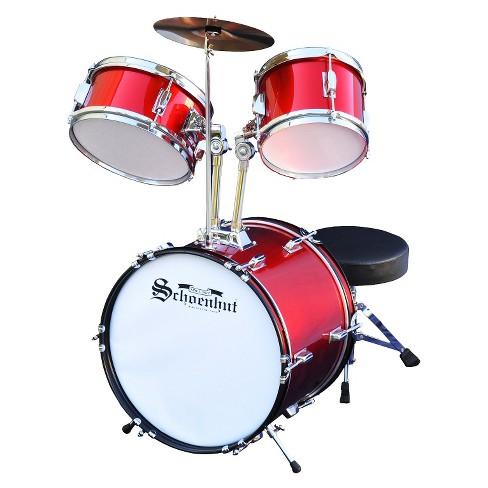 Schoenhut Toy Drum Set Red White Target