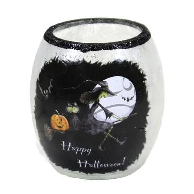 "Stony Creek 3.0"" Halloween Small Pre-Lit Votive Ghost Pumpkins Witch  -  Novelty Sculpture Lights"