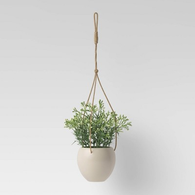 Ceramic Base Wall Mount Hanging Planter - Threshold™