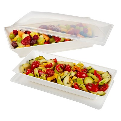 Fit & Fresh Chilled Serving Platters Set of 2
