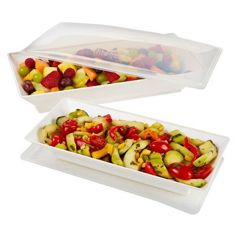 Fit & Fresh Chilled Serving Platters Set of 2 - image 1 of 3