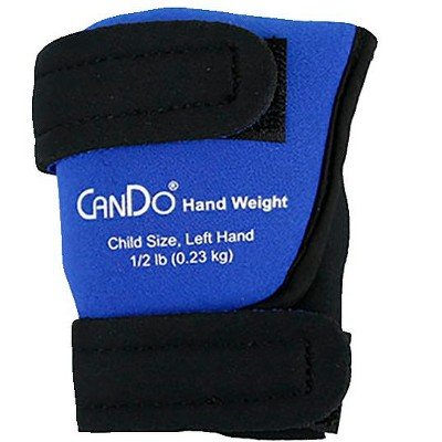 CanDo Palm Weights, Child Size Left Hand, 1/2 pound