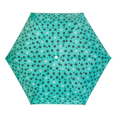 Cirra by ShedRain Cats and Dogs Compact Umbrella - Light Mint