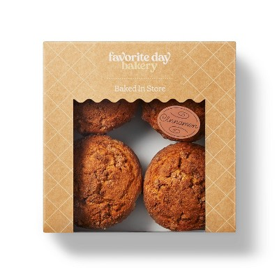 Cinnamon Coffee Cake Muffins - 16oz/4ct  - Favorite Day™