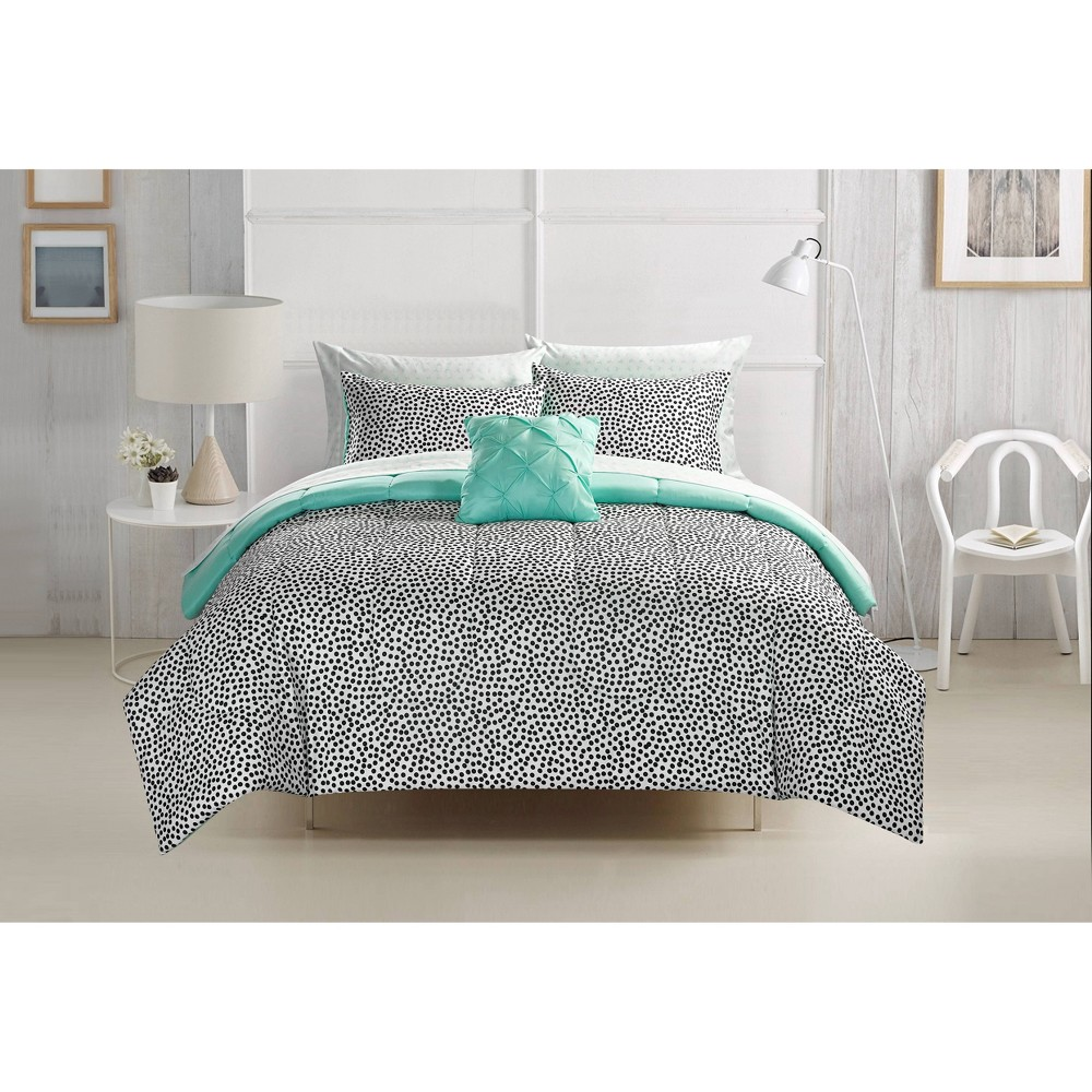 Image of Full Brushstroke Dots Bed in a Bag Black - Heritage Club